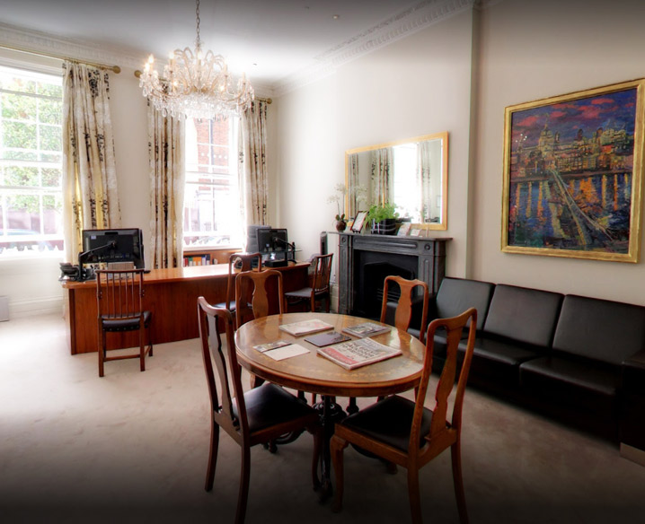 front desk of 150 Harley street clinic