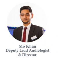 Mohammad Khan deputy lead audiologist and director